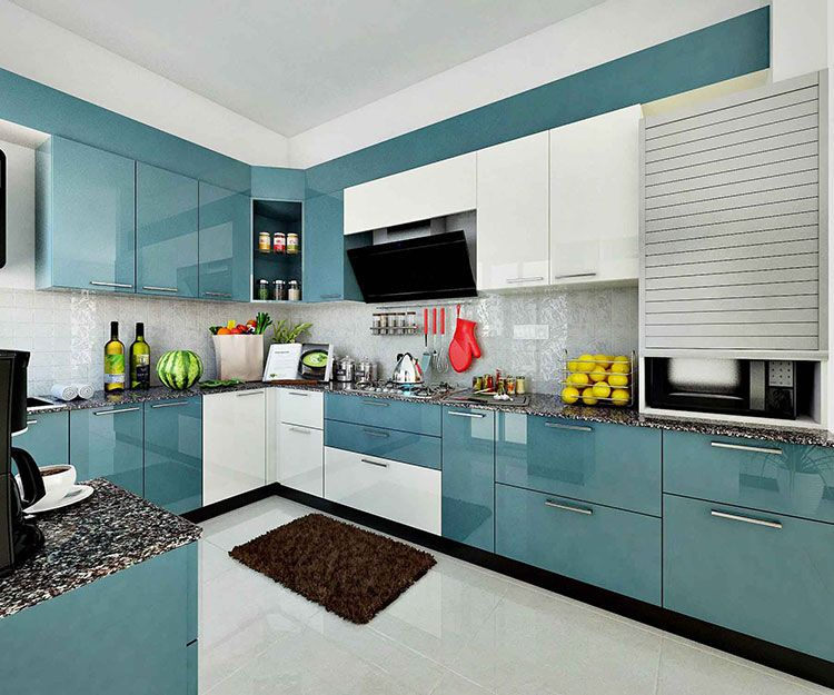 Get modular kitchen plan for your Small kitchen Space